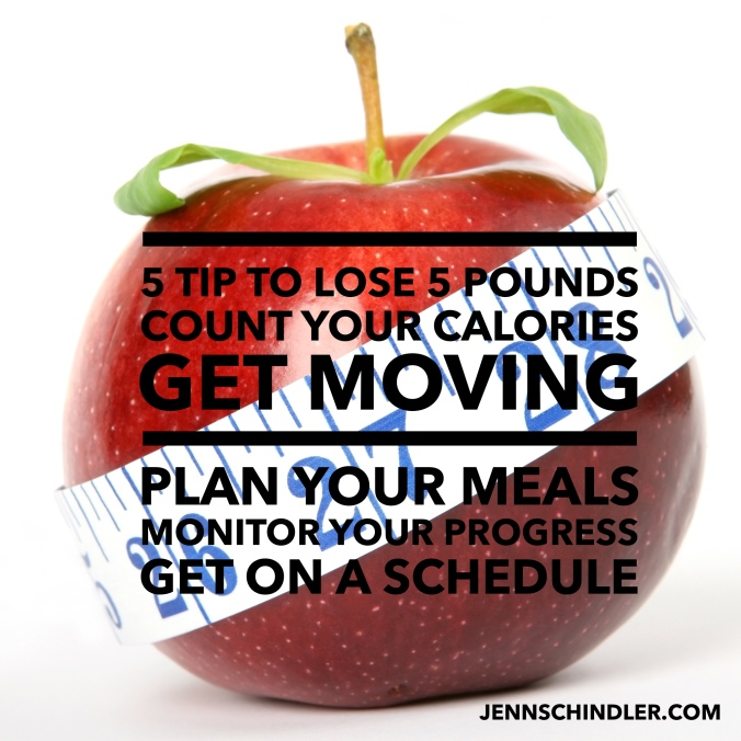 Apple with 5 Tips to Lose 5 Pounds