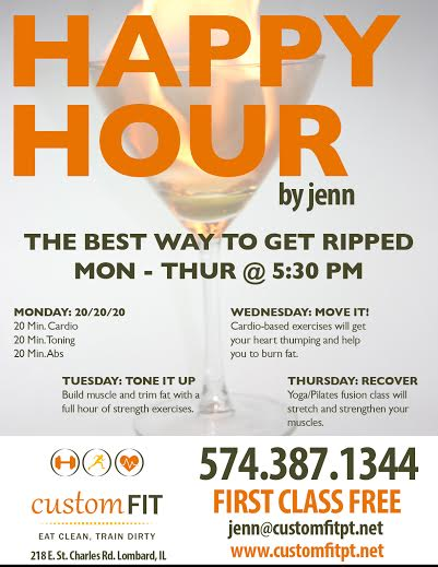 Happy Hour Class Schedule