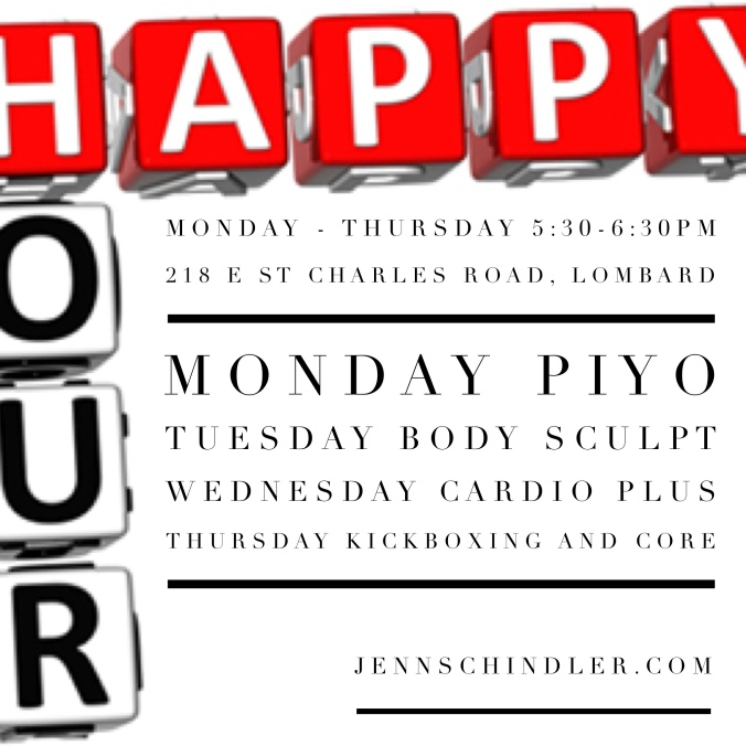 Happy Hour schedule