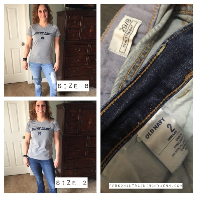 How can two of my favorite pair of jeans be two different sizes?